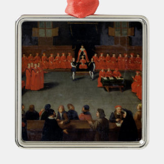The Council of Malines Silver-Colored Square Decoration