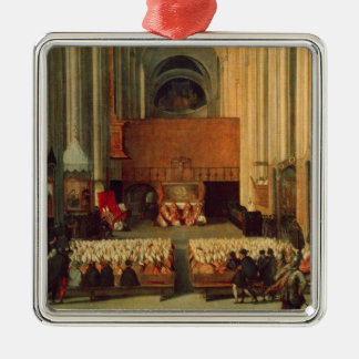 The Council of Trent, 4th December 1563 Silver-Colored Square Decoration
