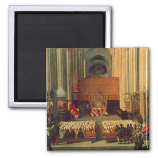The Council of Trent, 4th December 1563 Square Magnet