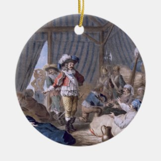 The Count of Harcourt (1601-66) shows his humanity Round Ceramic Decoration