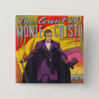The Count of Monty Cristo Comic 15 Cm Square Badge