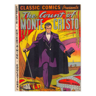 The Count of Monty Cristo Comic Postcard