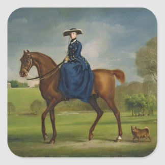 The Countess of Coningsby in the Costume of the Ch Square Sticker