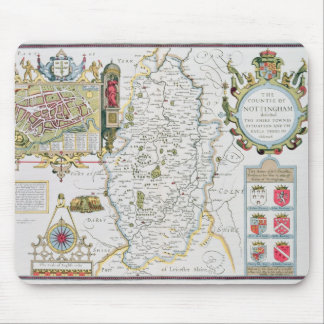 The Countie of Nottingham, engraved by Jodocus Mouse Pad