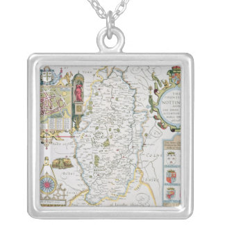 The Countie of Nottingham, engraved by Jodocus Silver Plated Necklace