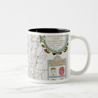 The Countie of Nottingham, engraved by Jodocus Two-Tone Coffee Mug