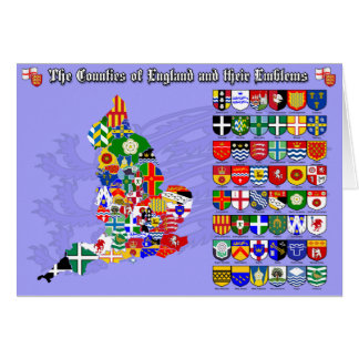 The Counties of England, their flags & emblems Greeting Card
