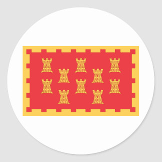 The County Flag of Greater Manchester Classic Round Sticker