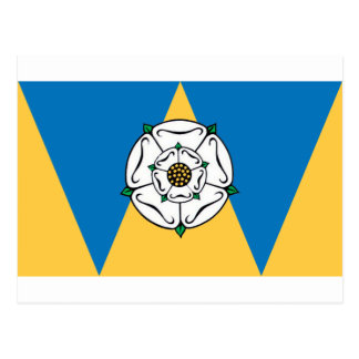 The County Flag of West Yorkshire Postcard