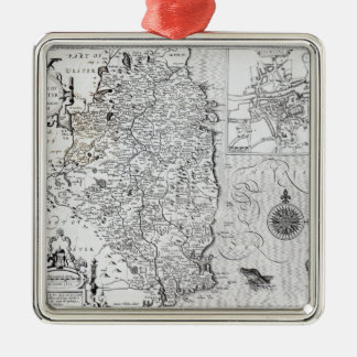 The County of Leinster with the City of Dublin Silver-Colored Square Decoration