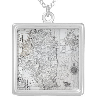 The County of Leinster with the City of Dublin Silver Plated Necklace