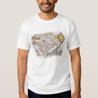 The Countye of Monmouth, engraved by Jodocus Shirt