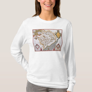 The Countye of Monmouth, engraved by Jodocus T-Shirt