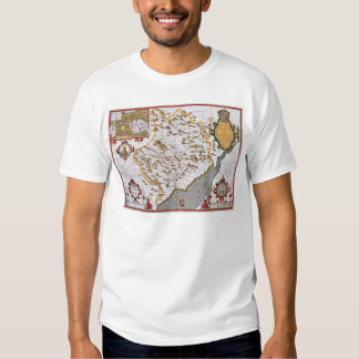 The Countye of Monmouth, engraved by Jodocus Tshirts