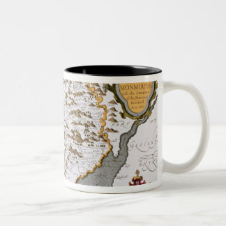 The Countye of Monmouth, engraved by Jodocus Two-Tone Coffee Mug
