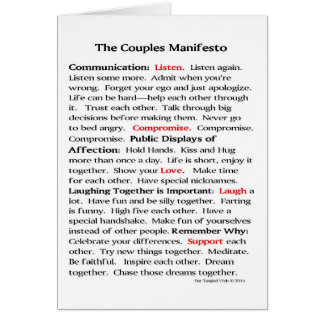 The Couples Manifesto Note Cards