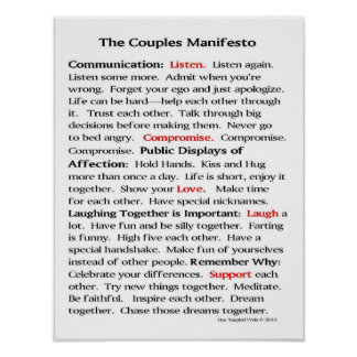 The Couples Manifesto Poster