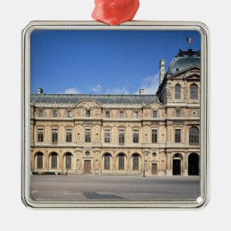 The Cour Carree and the Pavilion de l'Horloge Silver-Colored Square Decoration