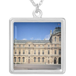 The Cour Carree and the Pavilion de l'Horloge Silver Plated Necklace