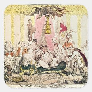The Court at Brighton a la Chinese, 1816 Square Sticker