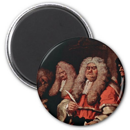The Court By Hogarth, William (Best Quality) Magnet
