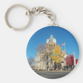 The Court House Basic Round Button Key Ring