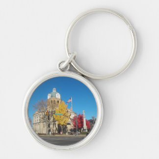 The Court House Silver-Colored Round Key Ring