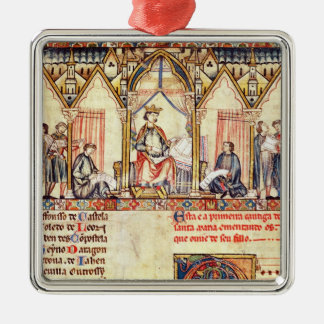 The court of Alfonso X  'the Wise' Christmas Ornament