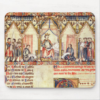 The court of Alfonso X  'the Wise' Mousepads