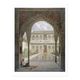 The Court of the Alberca in the Alhambra, Granada, Postcard