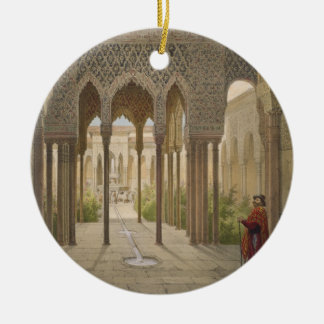 The Court of the Lions, the Alhambra, Granada, 185 Christmas Ornament