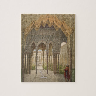 The Court of the Lions, the Alhambra, Granada, 185 Jigsaw Puzzle