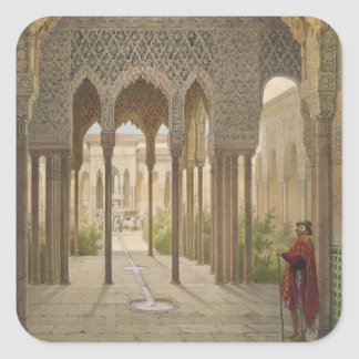 The Court of the Lions, the Alhambra, Granada, 185 Square Sticker