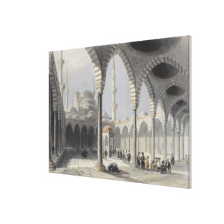 The Court of the Mosque of Sultan Achmet, Istanbul Canvas Print