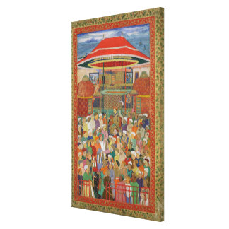 The Court Welcoming Emperor Jahangir Canvas Print