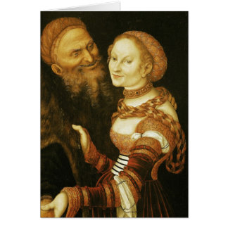 The Courtesan and the Old Man c 1530 Greeting Card