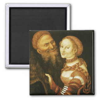 The Courtesan and the Old Man, c.1530 Fridge Magnet