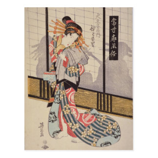 The Courtesan Hitomoto of the Daimonjiya House Postcard