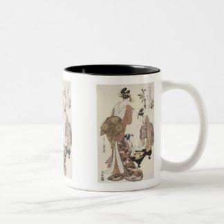 The Courtesan Nakagawa,  Eishi, 1795 Mug