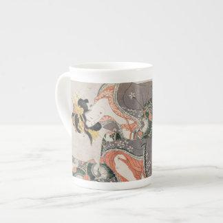 The Courtesan with cat  Kitagawa Utamaro geisha Porcelain Mug