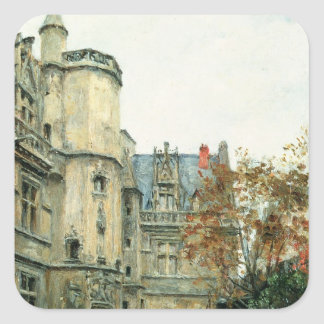 The Courtyard of the Museum of Cluny, c.1878-80 Square Sticker