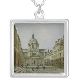 The Courtyard of the Old Sorbonne, 1886 Silver Plated Necklace