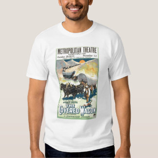 The Covered Wagon vintage 1923 film poster T-shirt