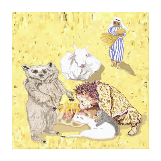 The Cow And The Bear Will Feed Together Stretched Canvas Prints