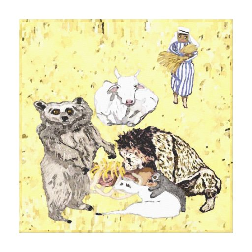 The Cow And The Bear Will Feed Together Canvas Prints