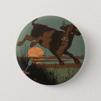 The Cow Jumped Over the Moon 6 Cm Round Badge
