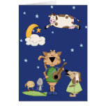 The Cow Jumped Over the Moon Card