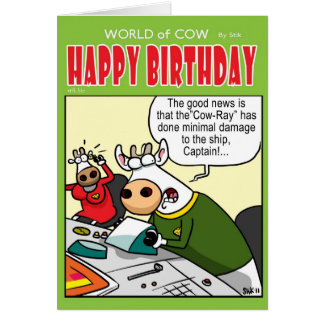 "The ""COW-RAY"" Greeting Card"