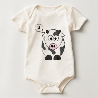The Cow Says μ Baby Bodysuits