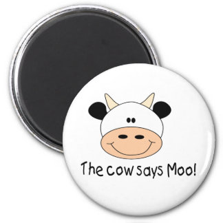 The Cow Says Moo 6 Cm Round Magnet